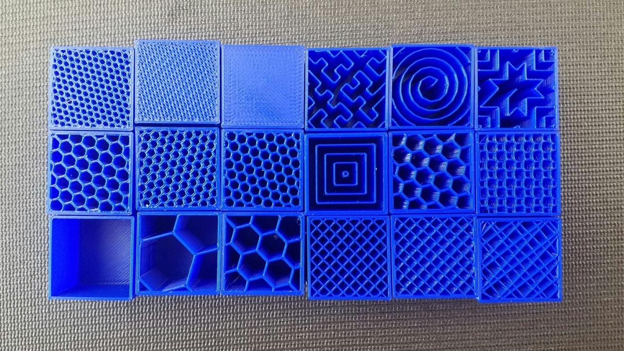 Tipos de relleno en impresión 3D