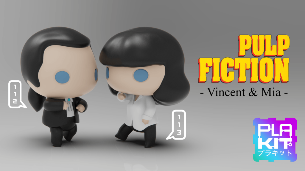 Vincent & Mia STL (3d-work.es)
