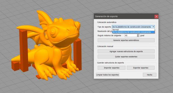 Manual de Simplify3D: Creación de soportes