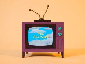 Televisor de los Simpsons impreso en 3D